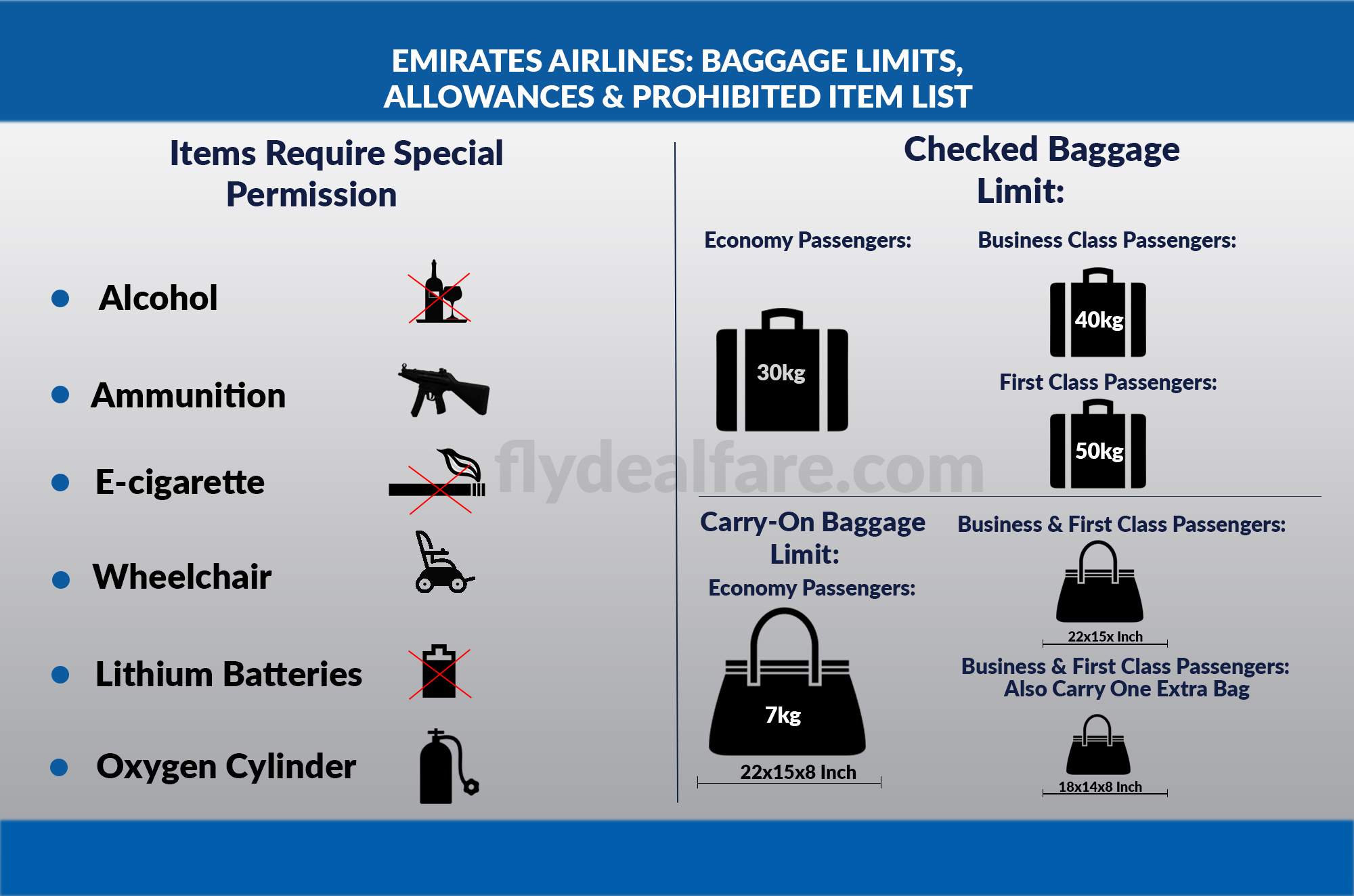 Know More About The Baggage Policy Of Emirates