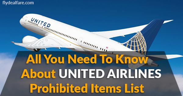 united prohibited items