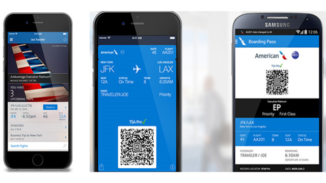 american airline mobile check in