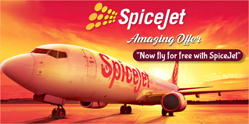 Grab The Chance To Fly Free With SpiceJet!