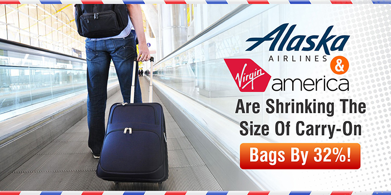 Alaska Amp Virgin America Will Shrink The Size Of Carry On Bags