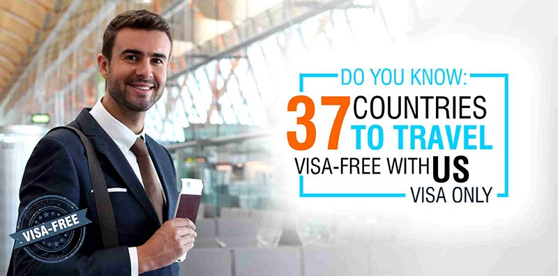 Do you know 37 countries to travel VISA-FREE with US visa only